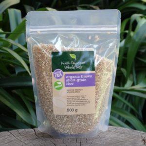 Organic Brown Short Grain Rice (Health Connection)