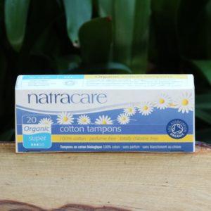 Organic Cotton Tampons, Super (20) (Natracare)