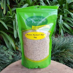 Organic Brown Basmati Rice, 1kg (Wensleydale Farms)