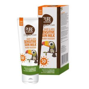 Baby & Kids Sensitive Sun Milk (Pure Beginnings)