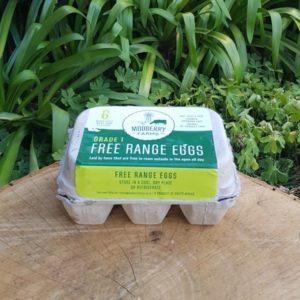Free-range Eggs, 6s , mixed size (Mooberry Farms)