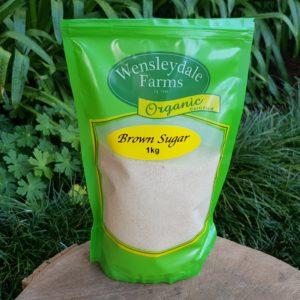 Organic Brown Sugar, 1kg (Wensleydale Farms)