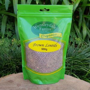Organic Brown Lentils, 500g (Wensleydale farms)