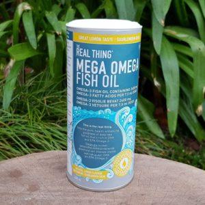 Mega Omega Fish Oil, Lemon (The Real Thing)