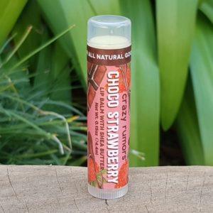 100% Natural Vegan Lip Balm, Choco Strawberry (Crazy Rumors)