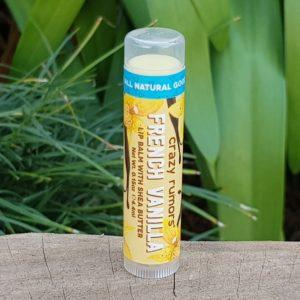 100% Natural Vegan Lip Balm, French Vanilla (Crazy Rumors)