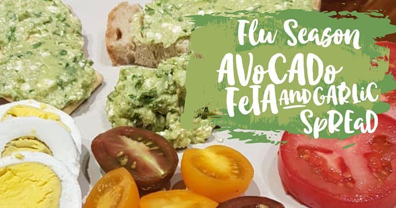 Avocado, Feta & Garlic Spread