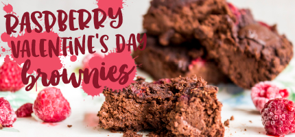 Raspberry Valentine's Day Brownies